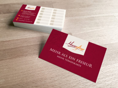 Termin- und Visitenkarte